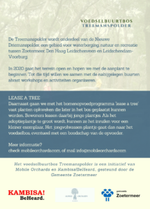 flyer voedselbuurtbos Treemanspolder copyright: Desh Chisukulu /Mobile Orchards