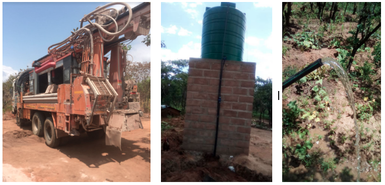 different stages of borehole installation 2018. Pictures: Desh Chisukulu